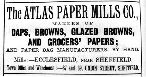 An advert for Ecclesfield Paper Mill