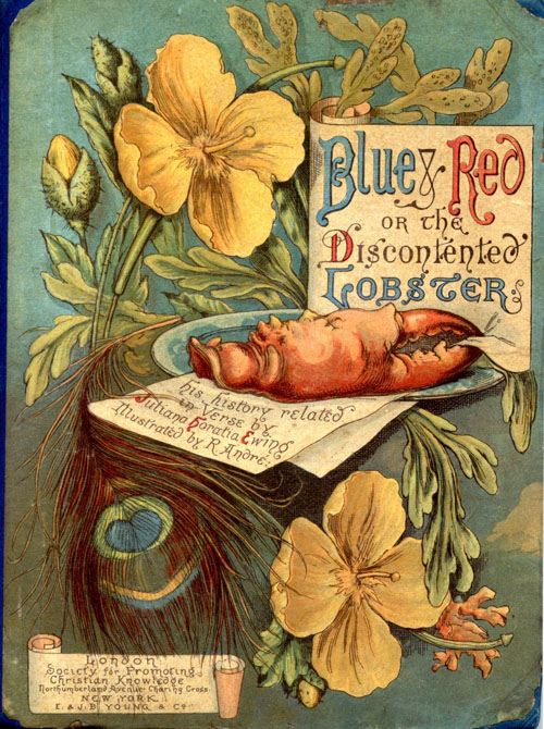 Blue and Red book cover illustration by R. Andre