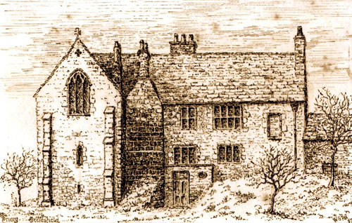 Ecclesfield Priory drawing by Fox 1887