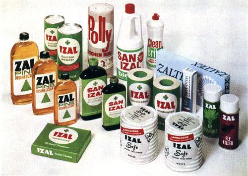 Izal product range