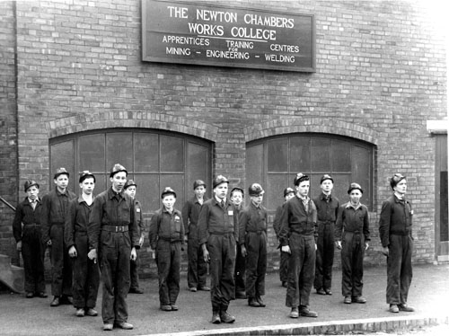 Mining apprentices at Newton Chambers 1943