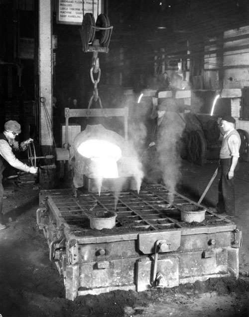 Newton Chambers heavy castings foundry