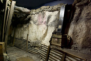 A replica of Trench 47 at Ypres, Belgium during World War One