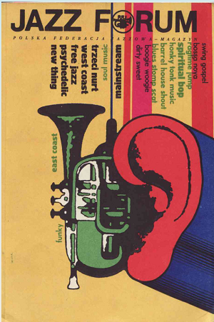 Colourful Jazz Forum magazine front cover from 1966