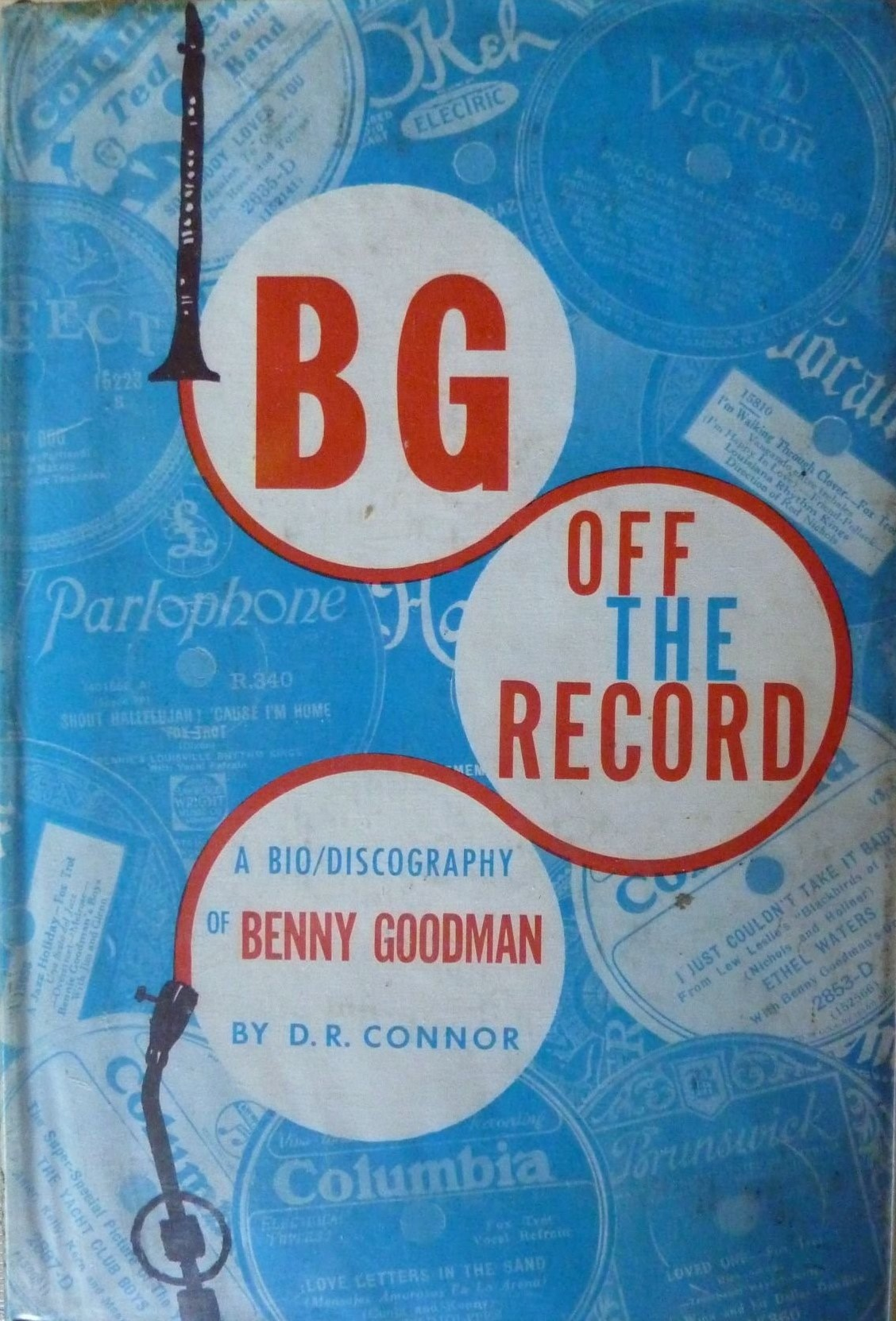 Front cover of Benny Goodman's discography Off the Record