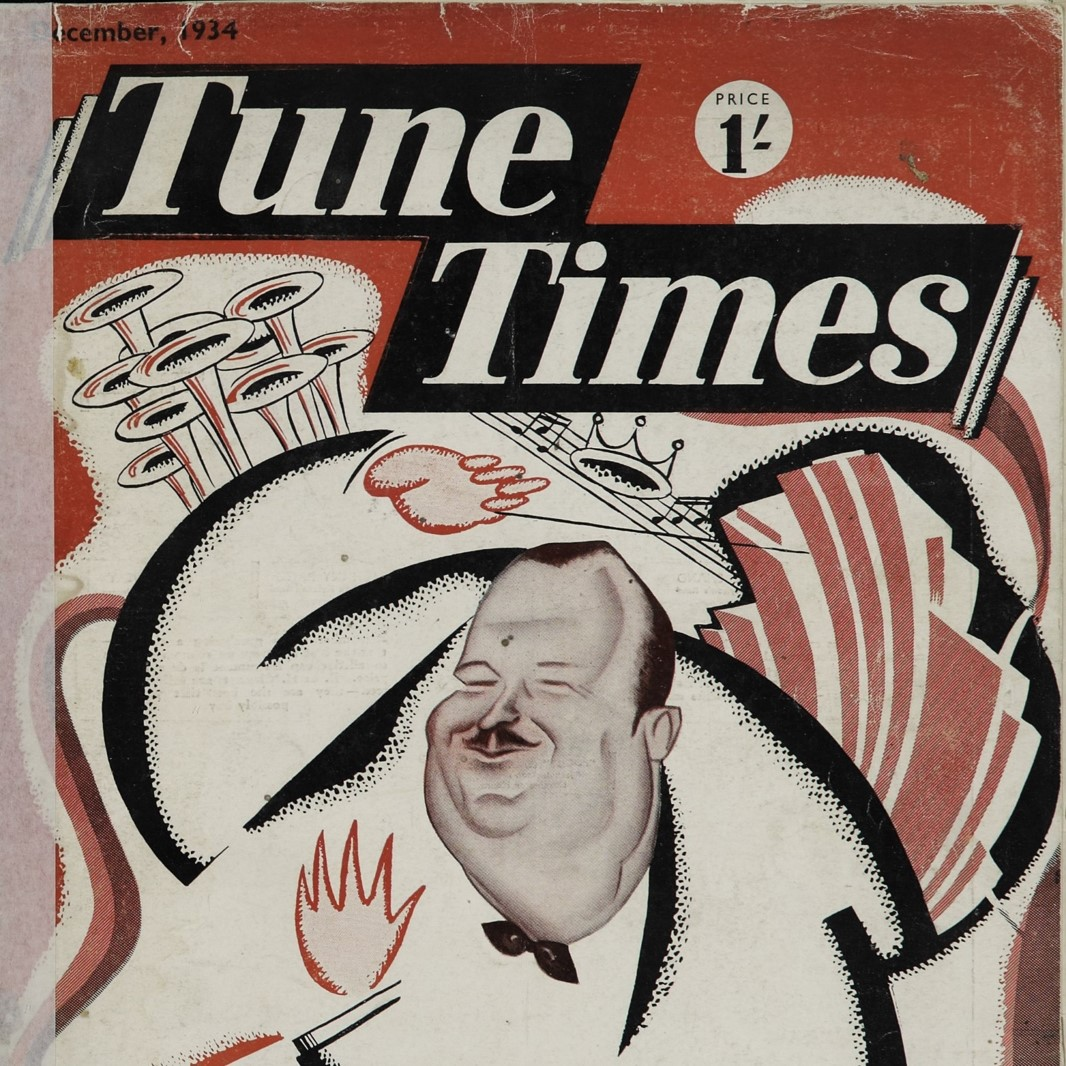 Tune Times front page caricature of Paul Whiteman