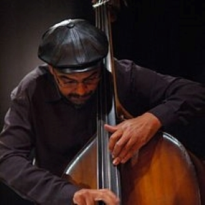 National Jazz Archive Patron Gary Cosby playing the double bass.