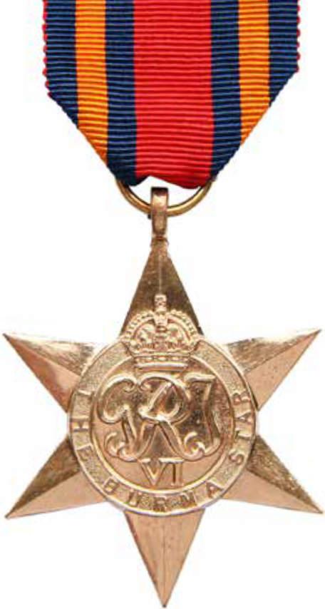 The Burma Star medal
