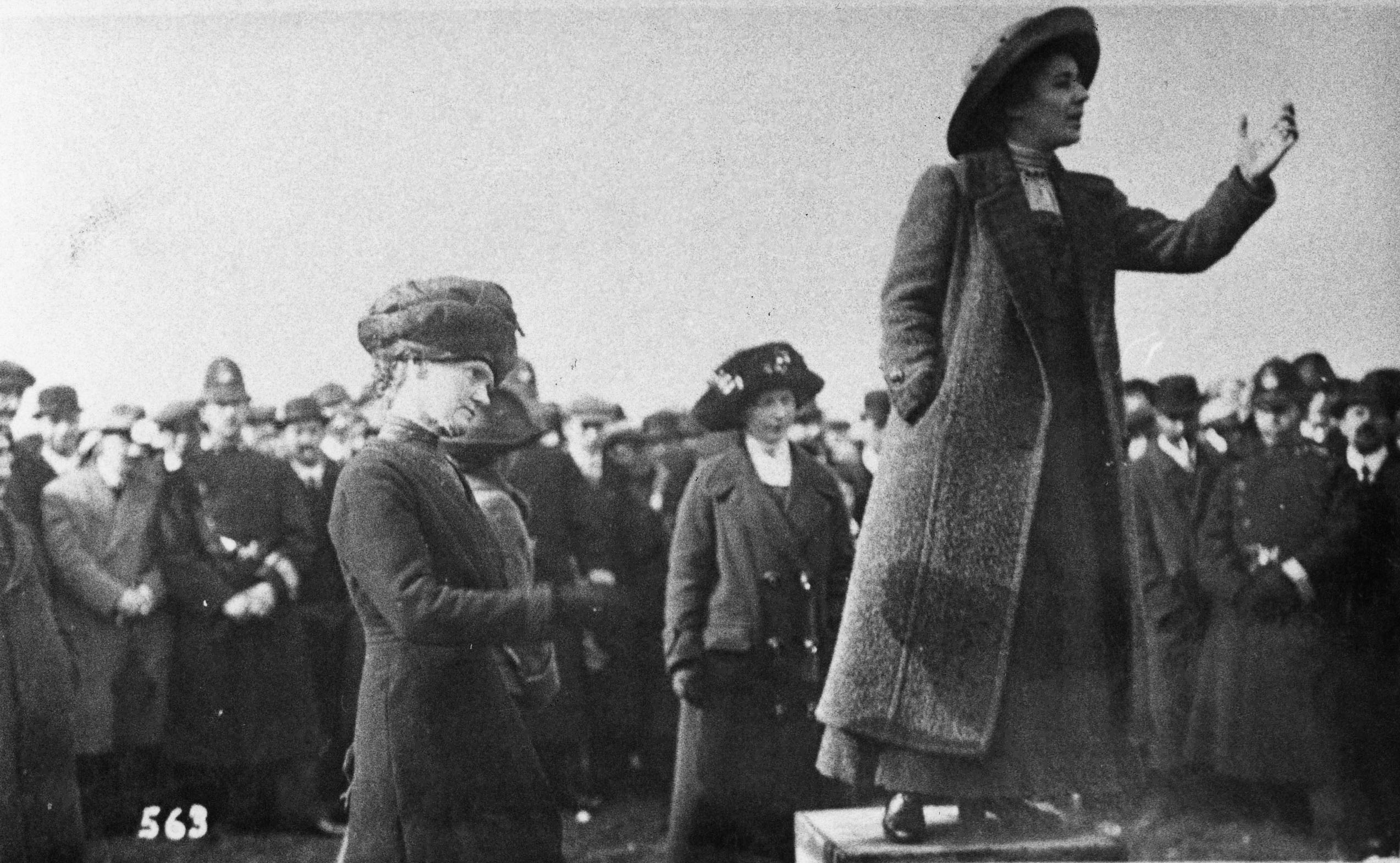Suffragette Rose Lamartine Yates addressing a meeting