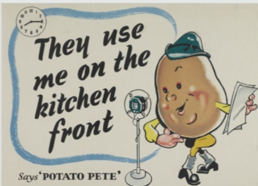 Potato Pete wartime poster