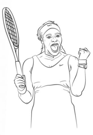 Tennis colouring sheet