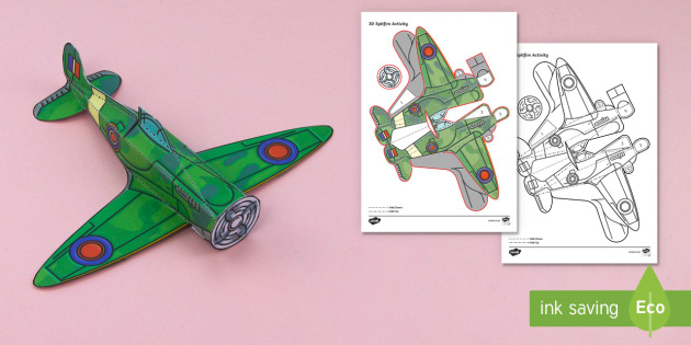 Cut out and colour Spitfire