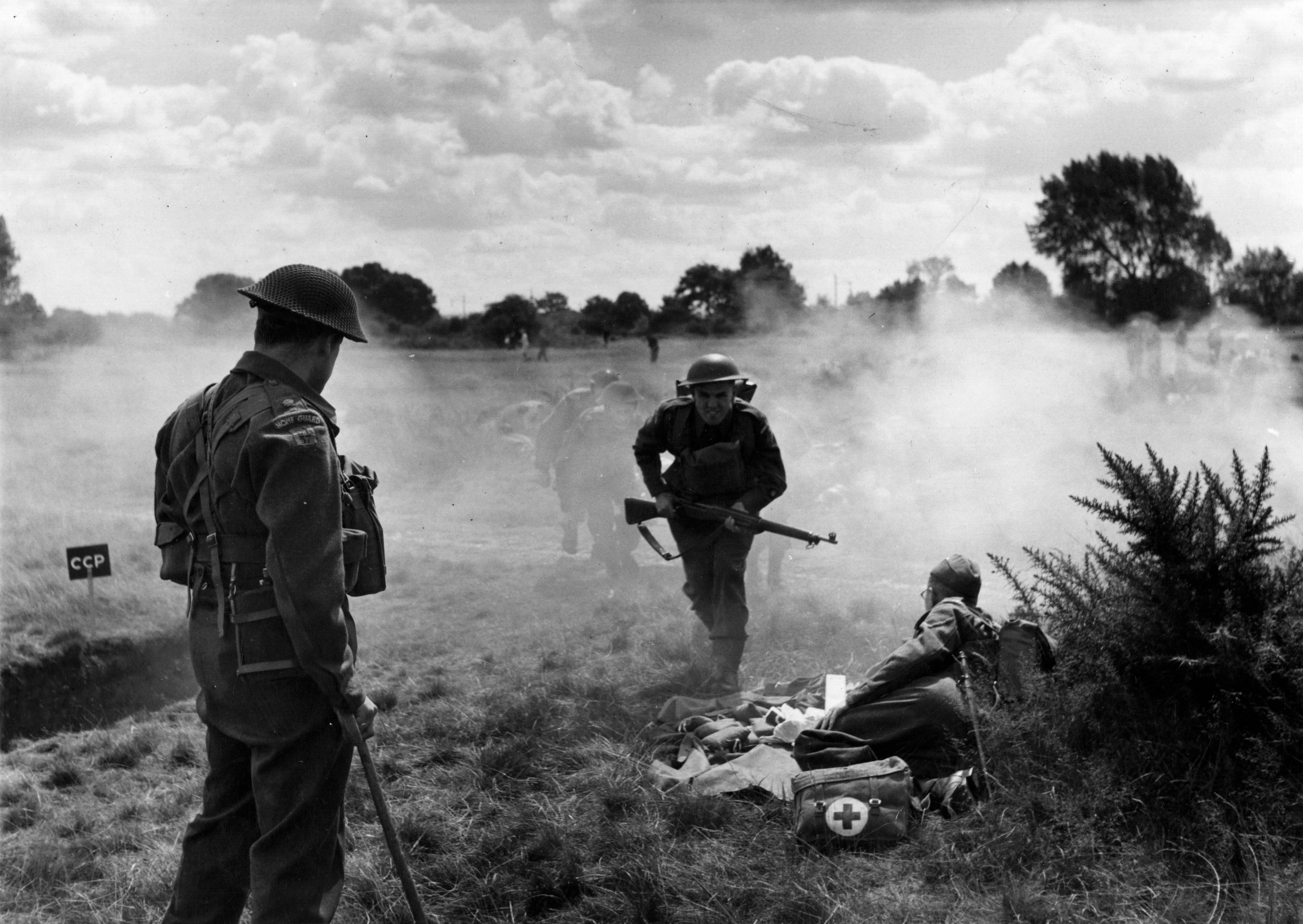 Home Guard exercise on Mitcham Common