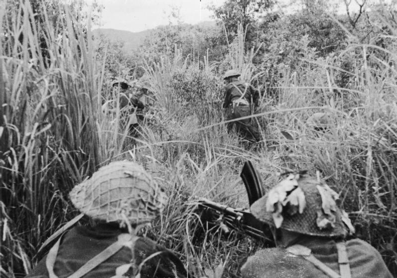 British troops fighting in Burma