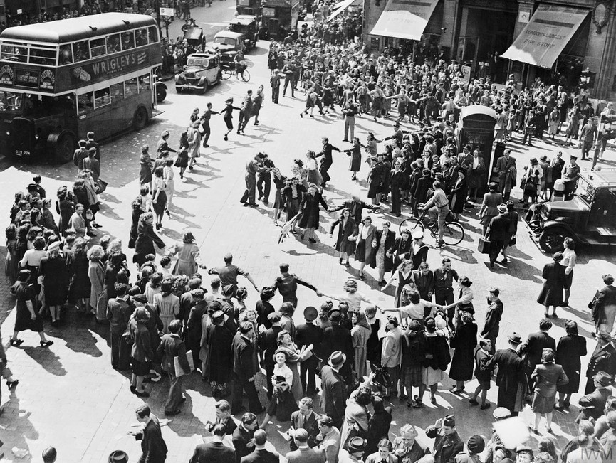 VJ Day in London August 1945