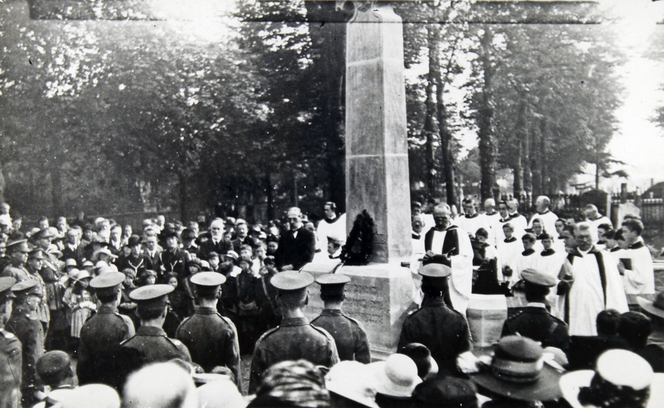Unveiling of Merton war memorial