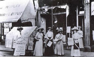 Wimbledon WSPU shop 1909