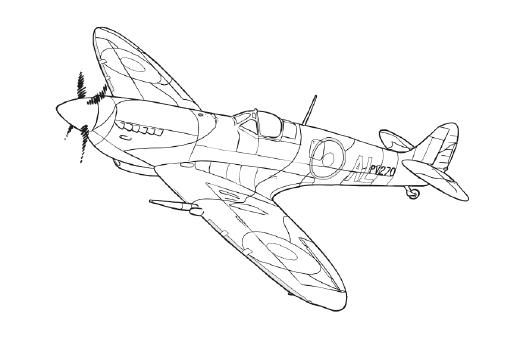 Battle of Britain colouring sheets