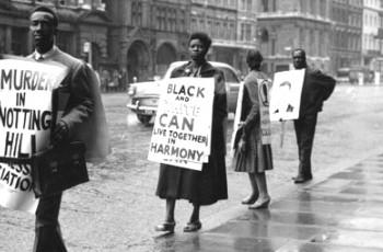 Anti racism protestors