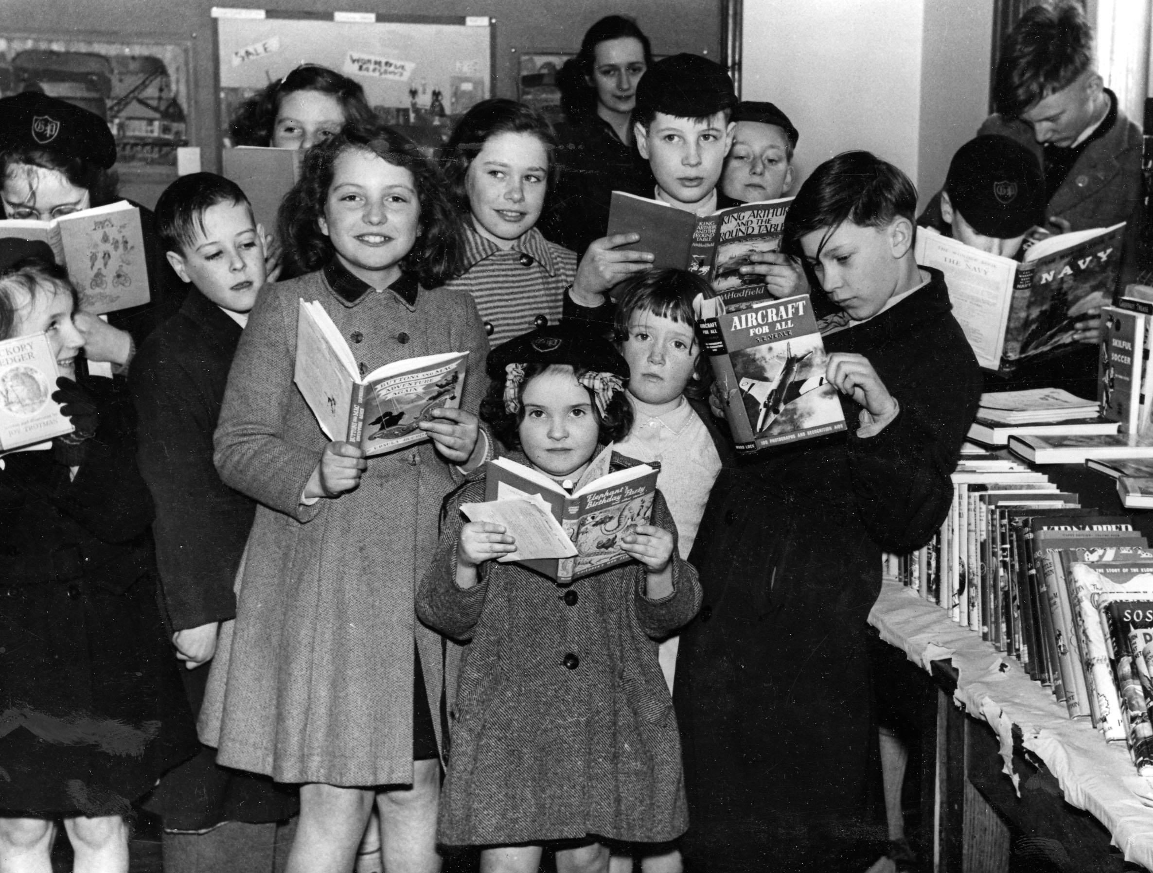 Book Week at Mitcham Library, 1950s