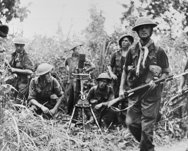 British army mortar crew in the Far East