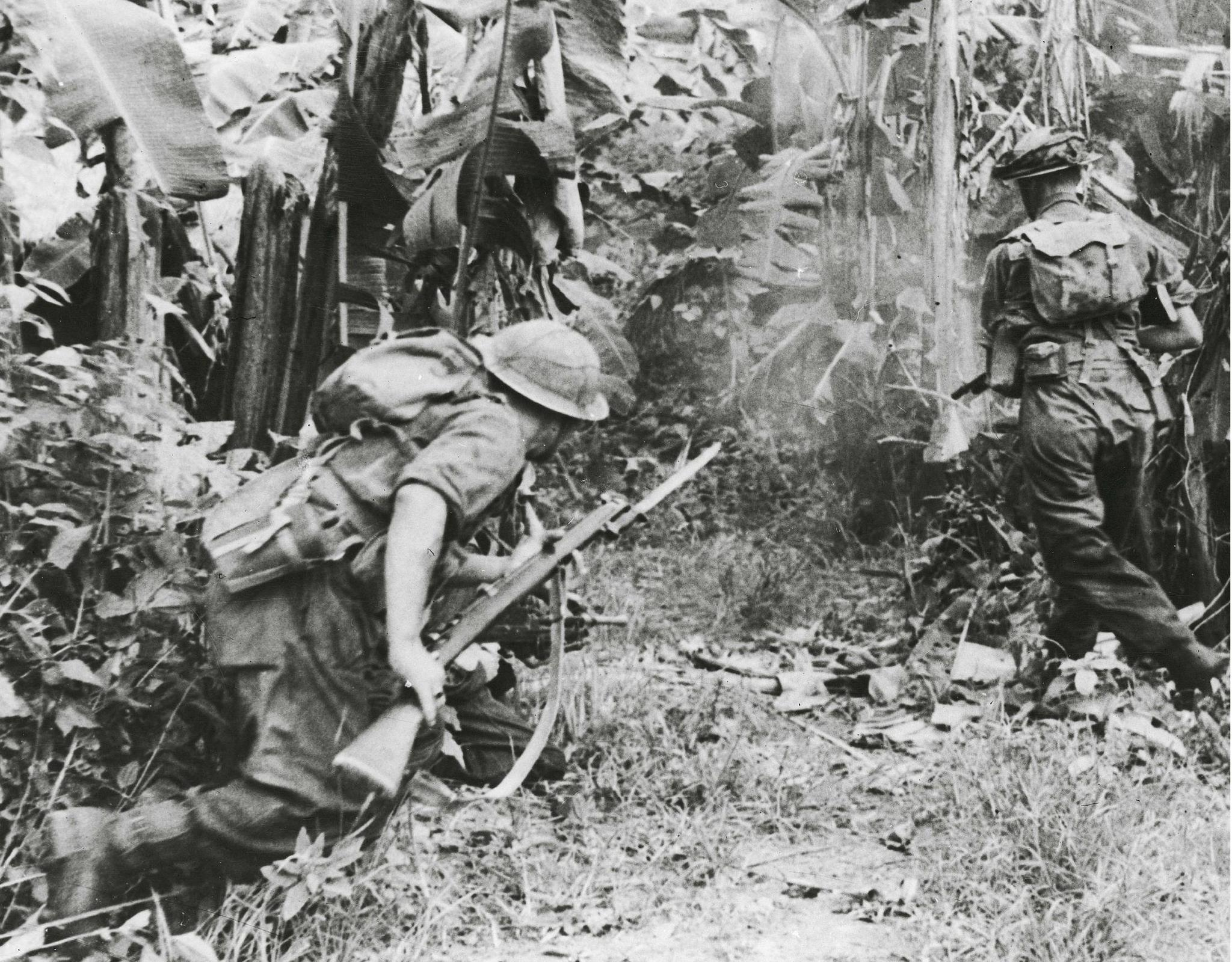 Allied troops fighting in the Far East
