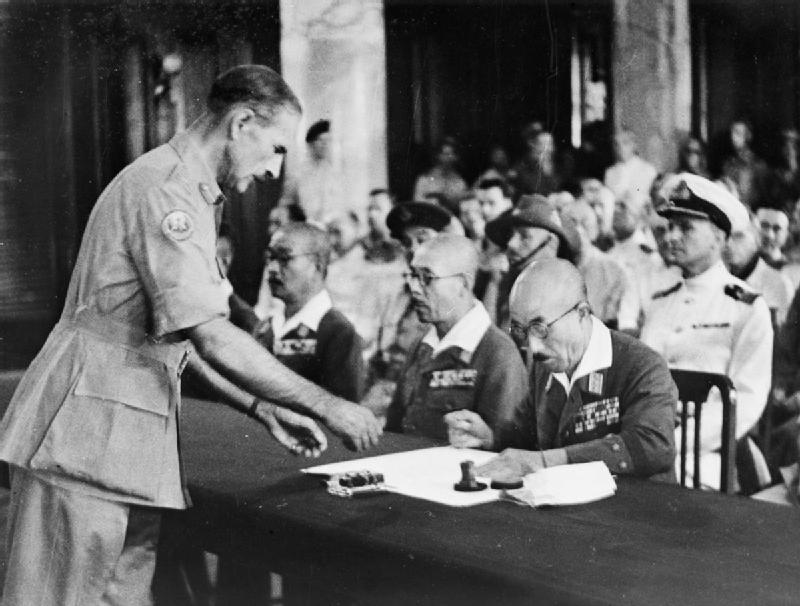 Japanese surrender at Singapore 1945